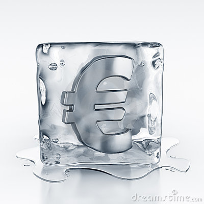 Icecube with euro symbol inside