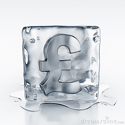 Icecube With Pound Symbol Inside Stock Images - Image: 10751834