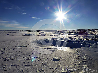 Iced Bay Antarctica
