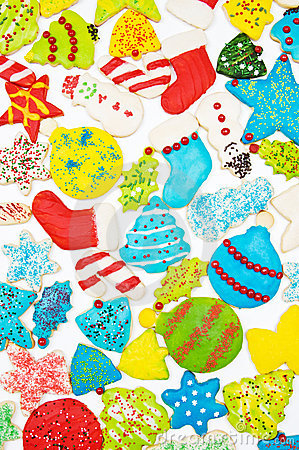 Free Iced Christmas Cookies Royalty Free Stock Image - 22433326