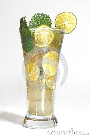 Iced Lemon Tea With Mint Stock Photography - Image: 28185572