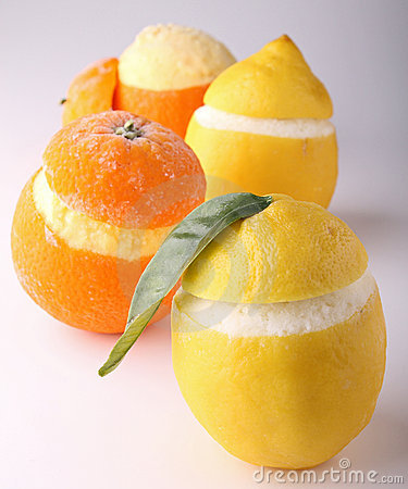 Iced orange and lemon