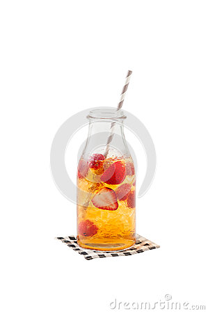 Free Iced Strawberry Tea Stock Images - 58901704