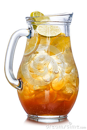 Free Iced Tea In The Pitcher Royalty Free Stock Photos - 44876398