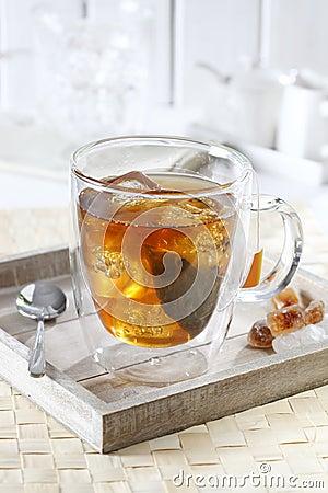 Iced tea on tray
