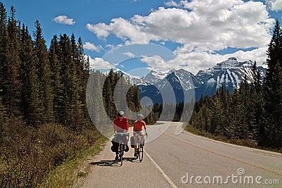 Icefields Parkway, Alberta, Canada. Editorial Photo