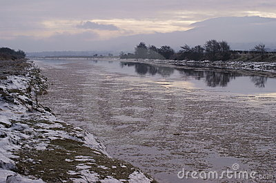 Iceflow, River Nith, Dumfries, Scotland