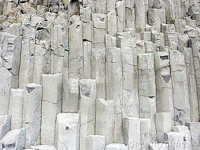 Iceland basalt formation rocks