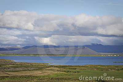 Iceland: Crater in Myvatn