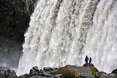 Iceland - Dettifoss Waterfall Editorial Photography