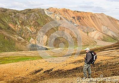 Iceland Hiker landmannalaugar