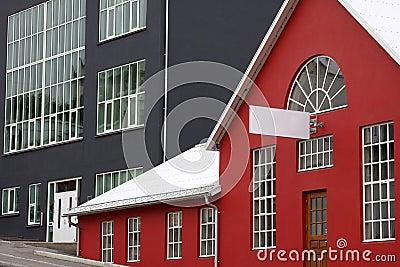 Iceland: Modern architecture in Akureyri