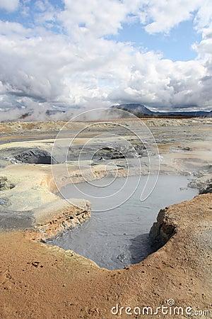 Iceland mud pool