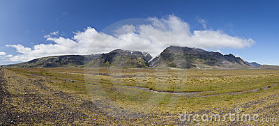 Iceland Panoramic Mountain Landscape