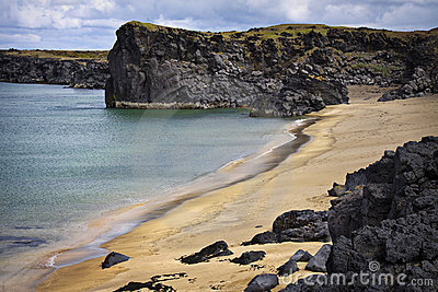Iceland: quiet beach