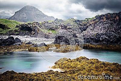 Iceland rocky coast landscape