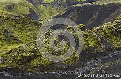 Iceland. South area. Fjallabak. Volcanic landscape.