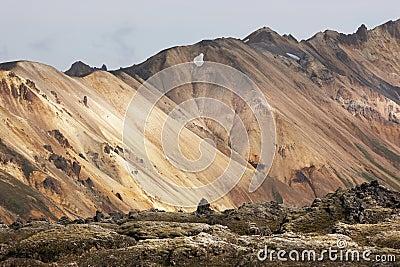 Iceland. South area. Fjallabak. Volcanic landscape with rhyolite