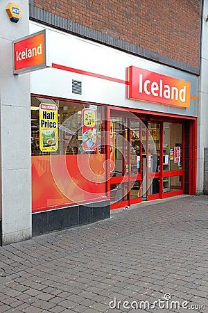 Iceland supermarket Editorial Image