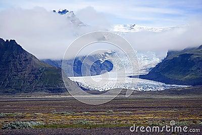 Iceland Vatnajokull glacier tongue