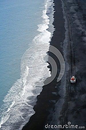 Iceland volcanic coastline