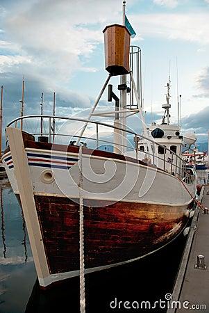 Free Icelandic Fishing Boat In The Port Of Husavik Stock Images - 19157154