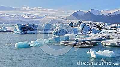 Icelandic glacier lagoon