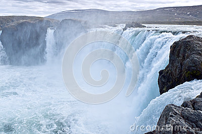 Icelandic waterfall Godafoss