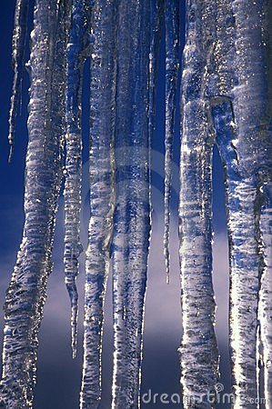 Icicles & blue sky