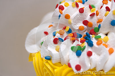 Icing and Sprinkles on Birthday Cake