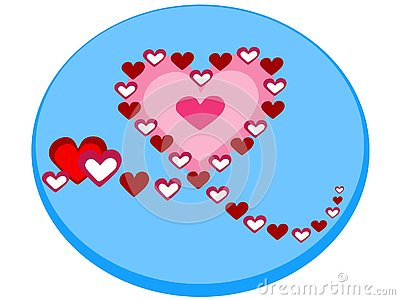 Icon of a beautiful heart that is formed with smaller hearts in the shape of a vector model 2 - Vector Vector Illustration