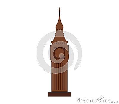 Icon Big Ben illustrated