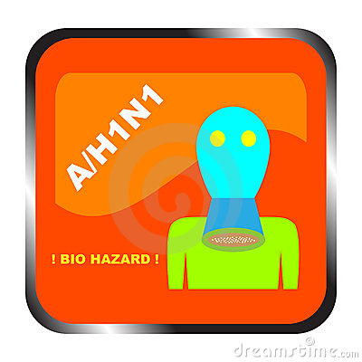 Icon. Bio-hazard from influenza possibility