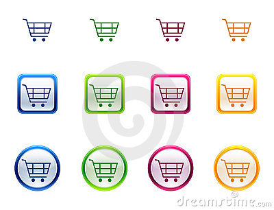 Icon button for shopping cart