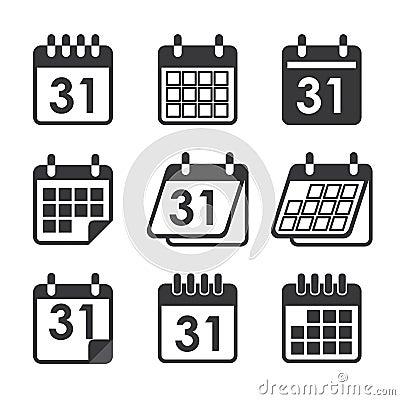 Icon calendar Vector Illustration