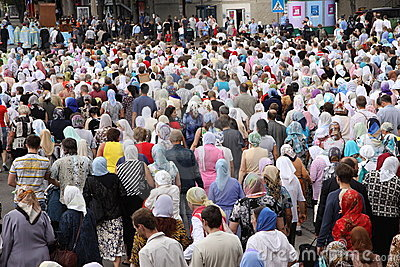 Icon caring procession Editorial Photography