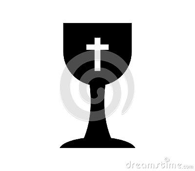 Icon Christian cup illustrated Stock Photo