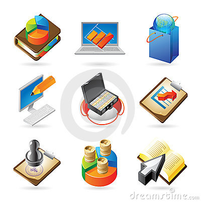 Free Icon Concepts For Business Royalty Free Stock Image - 14735926