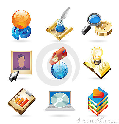 Free Icon Concepts For Web Royalty Free Stock Photo - 14363585