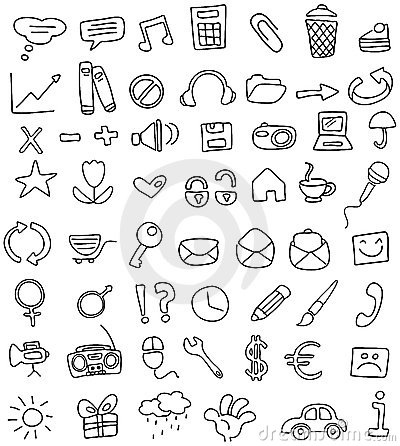 Free Icon Doodles Royalty Free Stock Image - 14776706