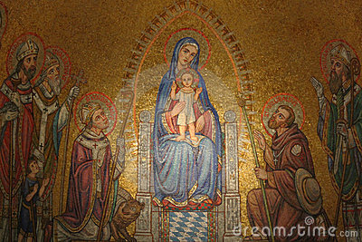 Icon in Dormition Abbey, Jerusalem, Israel