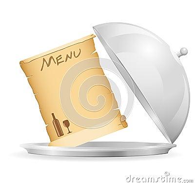 Icon emblem for restaurant vector illustration