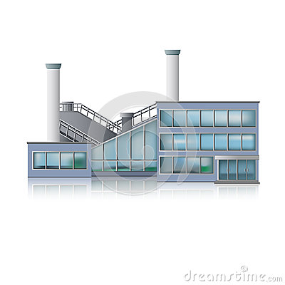 Free Icon Factory And Office Building Royalty Free Stock Images - 33033109