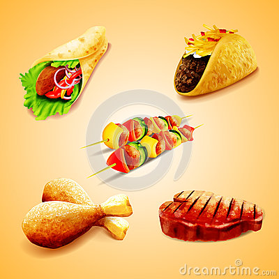 Free ICON FOOD Royalty Free Stock Photo - 49696815