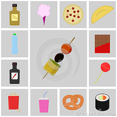 Icon food vector icon canapes stock vector image 70383911 for Canape vector download