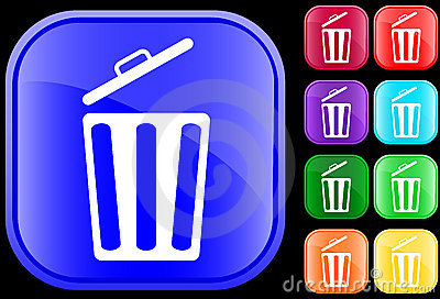 Icon of garbage can