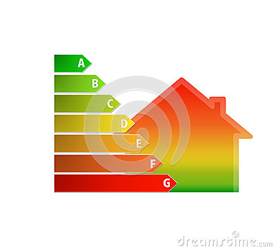 Icon of house energy efficiency rating