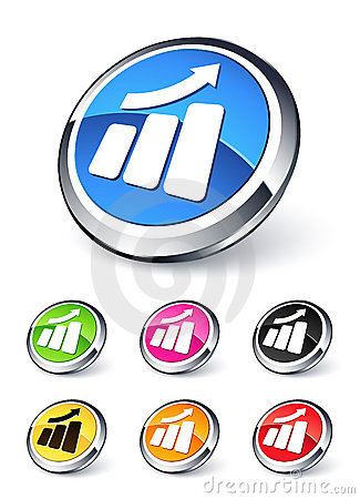 Icon Graph Up Stock Photos - Image: 11839073
