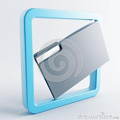 Icon in gray-blue color