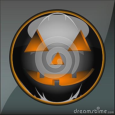 Icon Halloween pumpkin holiday